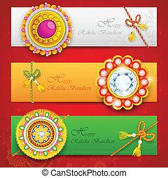 Raksha Bandhan - illustration of decorative rakhi for Raksha...