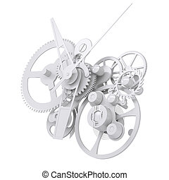Concept watch mechanism. Isolated render on white background