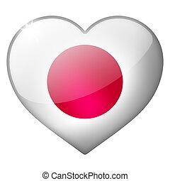 japan heart button
