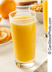 Refreshing Organic Orange Juice at Breakfast Time