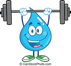 Water Drop Lifting Weights