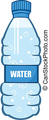 Cartoon Water Bottle Cartoon Character