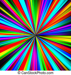 Multicolored pinpoint explosion abstract illustration