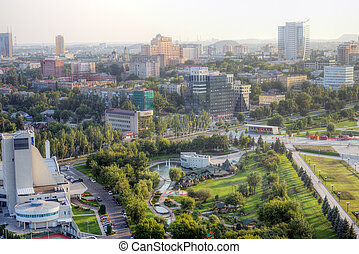 city ??of Donetsk, Ukraine - The beautiful city of Donetsk,...