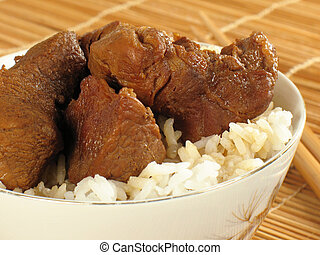 Asian Pork with Rice