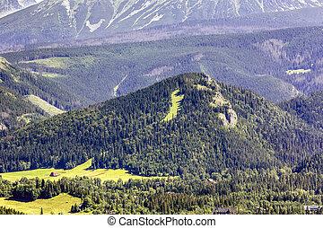 Nosal peak, a familiar place for winter sports in Zakopane...
