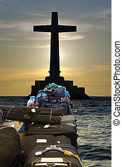 Travel to Jesus - Luggage and bags stacked on their way to a...