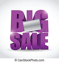 big sale sign and banner illustration design