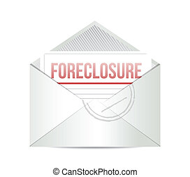 foreclosure mail illustration design over a white background