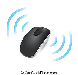 wireless mouse connected. illustration design