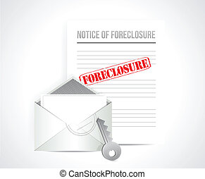 foreclosure final notice concept. illustration design over...
