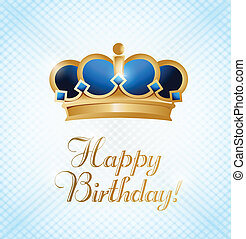 happy birthday king. illustration design card