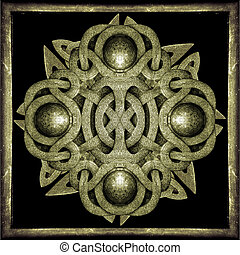 Stone Mystic Symbol - Stone celtic style decorative star...