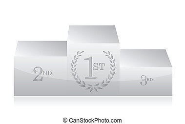 white clean podium illustration design