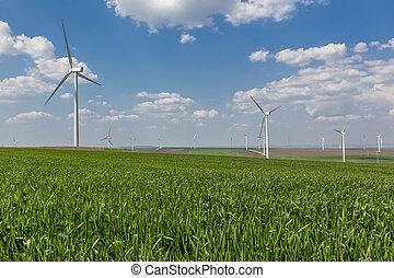 windfarm in a rural camp