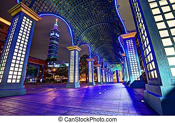 Taipei Cityscape - Nighttime cityscape in Taipei, Taiwan.