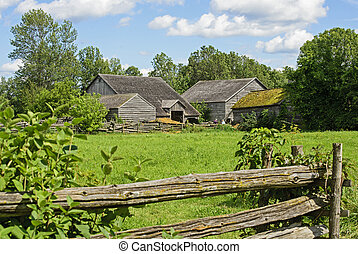 Old farm in Eastern Canada - 19th century old farm in...