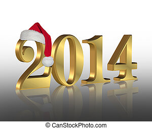 2014 New year santa hat - 2014 New year's eve party...
