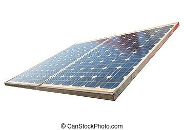 Pflanze, Macht, Energie, sonnenkollektoren, gebrauchend, erneuerbar