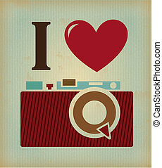 photographic - i love photographic over vintage background...