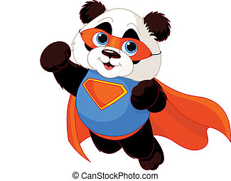 Super Panda - Illustration of Super Hero Panda