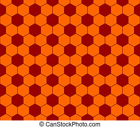 Seamless football pattern red orange. EPS 10