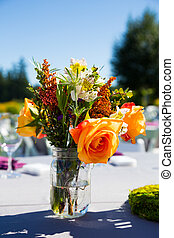 Wedding Reception Table Details - Tables, chairs, decor, and...