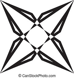Abstract geometrycal arabesque diamond illusion
