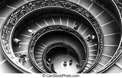 Vatican Museum staircase