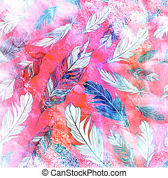 texture of feathers