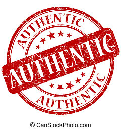 Authentic red stamp
