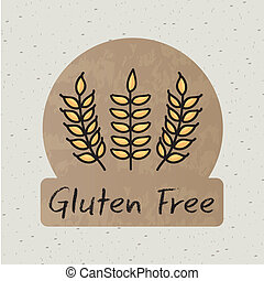 gluten free label over beige background vector illustration