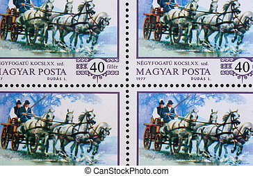 HUNGARY - CIRCA 1977: stamp printed by Hungary, shows World...