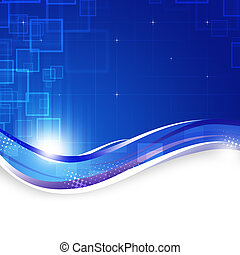 Blue Technology Background - blue motion contemporary...
