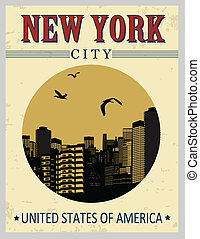 New York buildings from United States of America poster