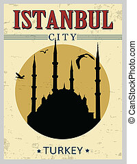 Blue mosque from Istanbul poster