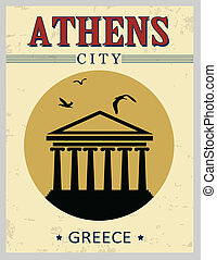 Parthenon from Athens poster - Parthenon from Athens in...