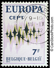 BELGIUM - CIRCA 1972: Stamp printed in Belgium showing...