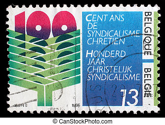 BELGIUM - CIRCA 1986: stamp printed by Belgium dedicated to...