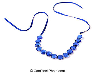 bijouterie -  bijouterie blue necklace on white background