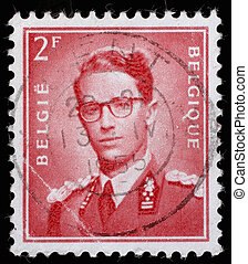 BELGIUM - CIRCA 1970: A stamp printed in Belgium shows King...