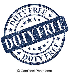 DUTY FREE blue stamp