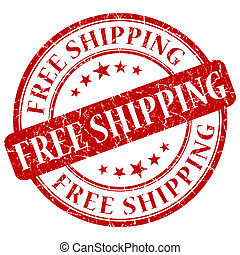 FREE SHIPPING red stamp