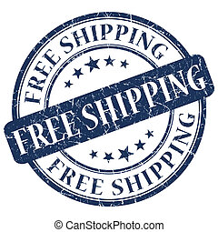 FREE SHIPPING Blue stamp