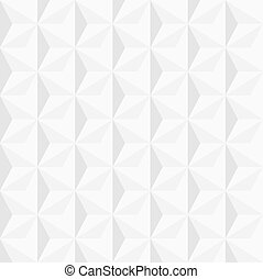 3d white geometric background. Vector eps 10