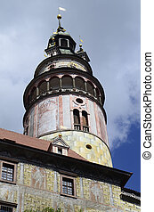 Chech Republic - Cesky Krumlov, Czechia, tower of little...