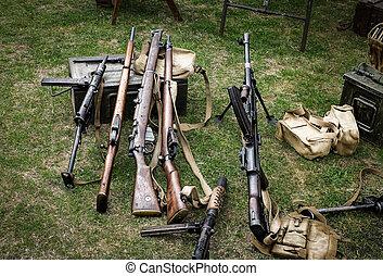 ww2 guns - Collection of ww2 guns