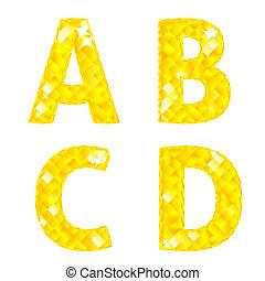Diamond letters A, B, C, D