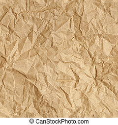 Crumpled Paper Wallpaper - Repeating crumpled brown parcel...