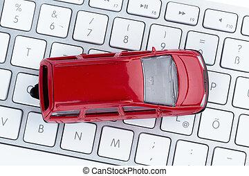 car on computer keyboard - car keyboard symbol photo for car...